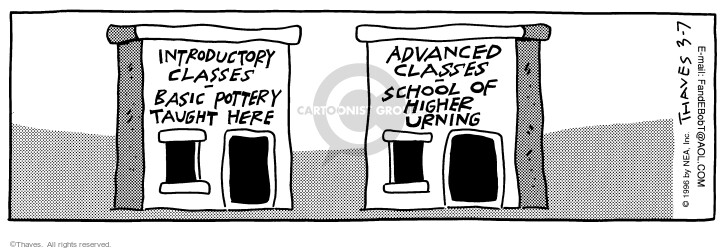 Comic Strip Bob Thaves Tom Thaves  Frank and Ernest 1996-03-07 higher education