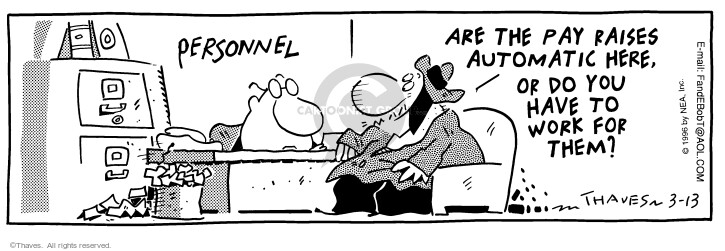 Comic Strip Bob Thaves Tom Thaves  Frank and Ernest 1996-03-13 job search