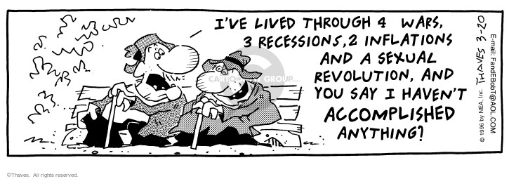 Comic Strip Bob Thaves Tom Thaves  Frank and Ernest 1996-03-20 inflation