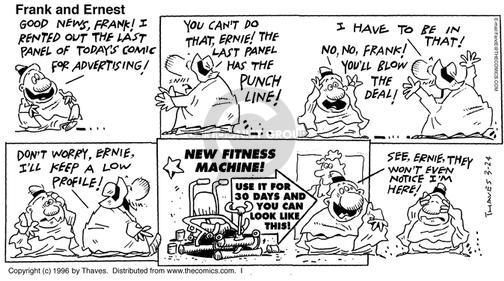 Cartoonist Bob Thaves Tom Thaves  Frank and Ernest 1996-03-24 good