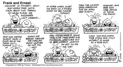 Comic Strip Bob Thaves Tom Thaves  Frank and Ernest 1996-03-31 food critic