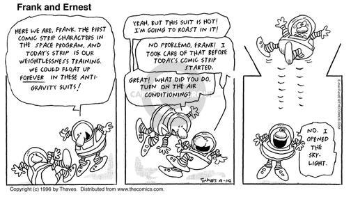 Comic Strip Bob Thaves Tom Thaves  Frank and Ernest 1996-04-14 tank
