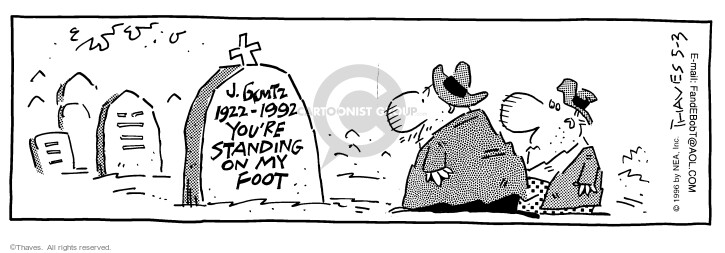 Comic Strip Bob Thaves Tom Thaves  Frank and Ernest 1996-05-03 sign
