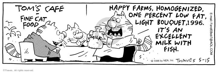 Cartoonist Bob Thaves Tom Thaves  Frank and Ernest 1996-05-15 fat