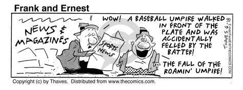 Comic Strip Bob Thaves Tom Thaves  Frank and Ernest 1996-06-18 baseball batter