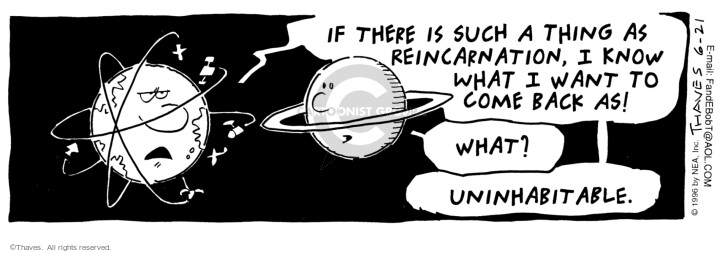 Comic Strip Bob Thaves Tom Thaves  Frank and Ernest 1996-06-21 earth