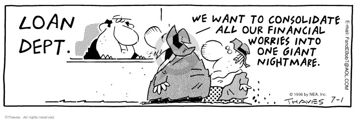 Comic Strip Bob Thaves Tom Thaves  Frank and Ernest 1996-07-01 giant