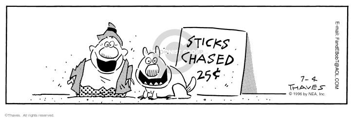 Cartoonist Bob Thaves Tom Thaves  Frank and Ernest 1996-07-04 partner
