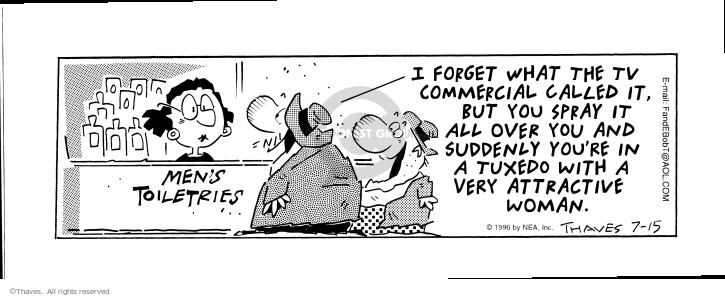Cartoonist Bob Thaves Tom Thaves  Frank and Ernest 1996-07-15 counter