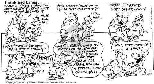 Comic Strip Bob Thaves Tom Thaves  Frank and Ernest 1996-08-11 unit