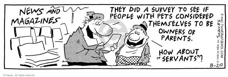 Comic Strip Bob Thaves Tom Thaves  Frank and Ernest 1996-08-20 servant