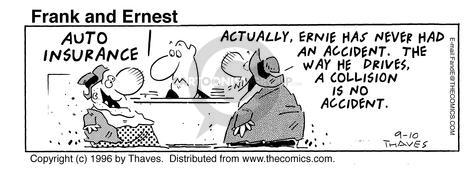 Comic Strip Bob Thaves Tom Thaves  Frank and Ernest 1996-09-10 insure