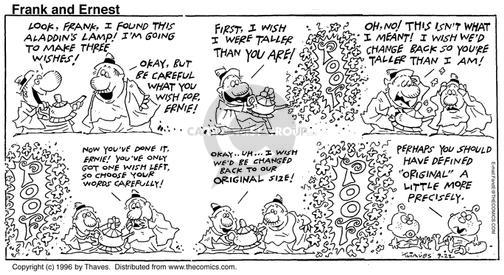Comic Strip Bob Thaves Tom Thaves  Frank and Ernest 1996-09-22 change