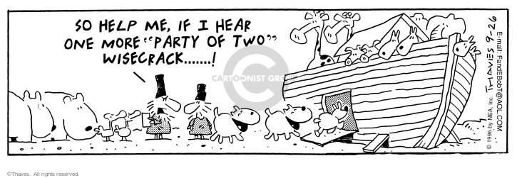 Comic Strip Bob Thaves Tom Thaves  Frank and Ernest 1996-09-26 hear