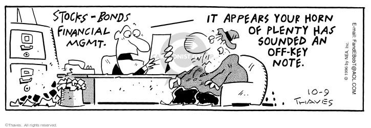 Comic Strip Bob Thaves Tom Thaves  Frank and Ernest 1996-10-09 advisor