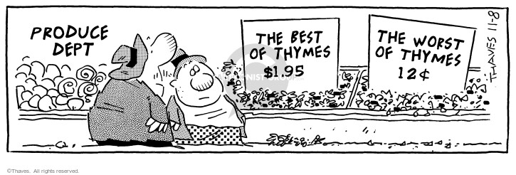 Comic Strip Bob Thaves Tom Thaves  Frank and Ernest 1996-11-08 vegetable