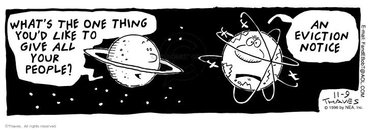 Cartoonist Bob Thaves Tom Thaves  Frank and Ernest 1996-11-09 star