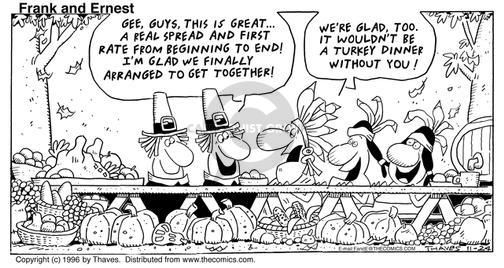 Comic Strip Bob Thaves Tom Thaves  Frank and Ernest 1996-11-24 feast