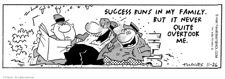 Comic Strip Bob Thaves Tom Thaves  Frank and Ernest 1996-11-26 fail