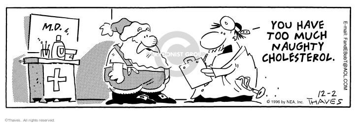 Comic Strip Bob Thaves Tom Thaves  Frank and Ernest 1996-12-02 medical examination