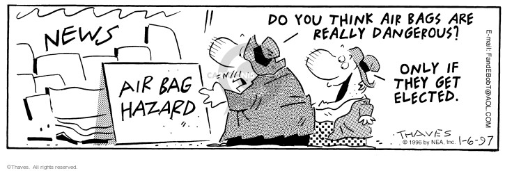 Comic Strip Bob Thaves Tom Thaves  Frank and Ernest 1997-01-06 paper