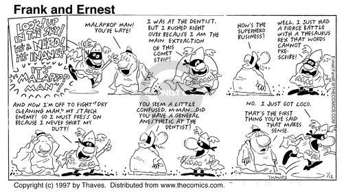 Cartoonist Bob Thaves Tom Thaves  Frank and Ernest 1997-01-12 fighter