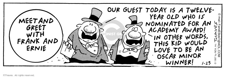 Comic Strip Bob Thaves Tom Thaves  Frank and Ernest 1997-01-23 Academy Awards