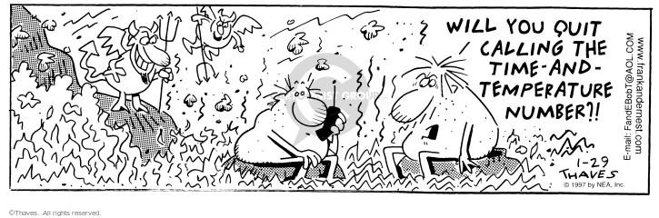 Comic Strip Bob Thaves Tom Thaves  Frank and Ernest 1997-01-29 ruler
