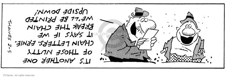 Comic Strip Bob Thaves Tom Thaves  Frank and Ernest 1997-02-05 letter