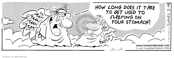Comic Strip Bob Thaves Tom Thaves  Frank and Ernest 1997-02-14 comfort