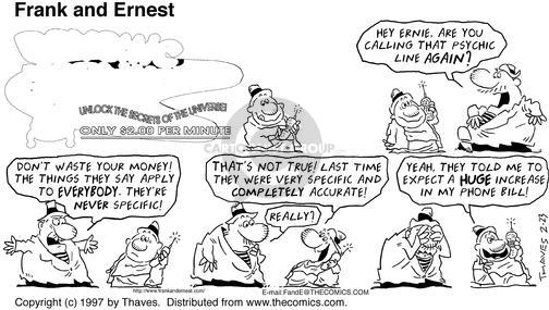 Comic Strip Bob Thaves Tom Thaves  Frank and Ernest 1997-02-23 secret