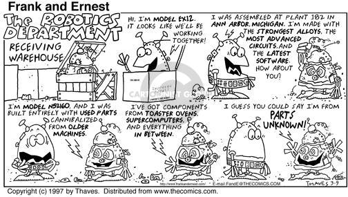 Comic Strip Bob Thaves Tom Thaves  Frank and Ernest 1997-03-09 department