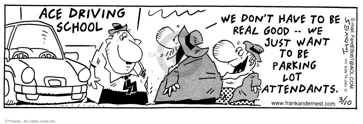 Comic Strip Bob Thaves Tom Thaves  Frank and Ernest 1997-03-10 employment work