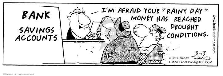 Comic Strip Bob Thaves Tom Thaves  Frank and Ernest 1997-03-13 lender