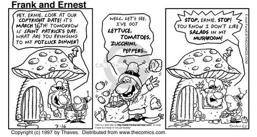 Cartoonist Bob Thaves Tom Thaves  Frank and Ernest 1997-03-16 stop