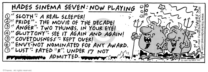 Comic Strip Bob Thaves Tom Thaves  Frank and Ernest 1997-03-20 critique