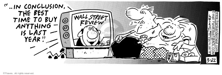 Comic Strip Bob Thaves Tom Thaves  Frank and Ernest 1997-03-22 stock market