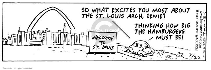 Cartoonist Bob Thaves Tom Thaves  Frank and Ernest 1997-03-26 landmark