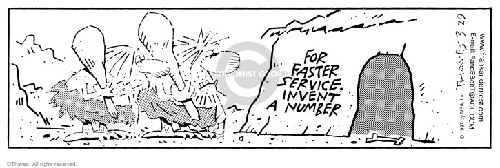 Comic Strip Bob Thaves Tom Thaves  Frank and Ernest 1997-03-29 sign