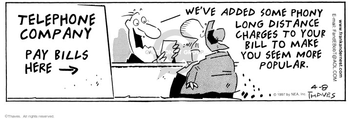Comic Strip Bob Thaves Tom Thaves  Frank and Ernest 1997-04-08 addition