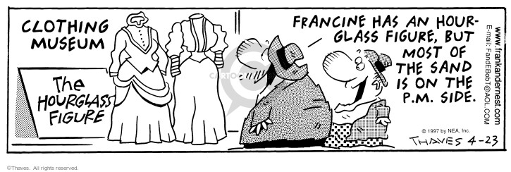 Comic Strip Bob Thaves Tom Thaves  Frank and Ernest 1997-04-23 dress