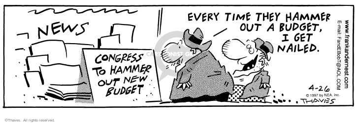 Comic Strip Bob Thaves Tom Thaves  Frank and Ernest 1997-04-26 finance