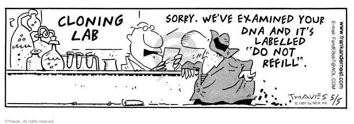 Comic Strip Bob Thaves Tom Thaves  Frank and Ernest 1997-05-05 acid cell