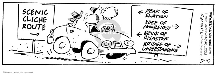 Comic Strip Bob Thaves Tom Thaves  Frank and Ernest 1997-05-10 auto
