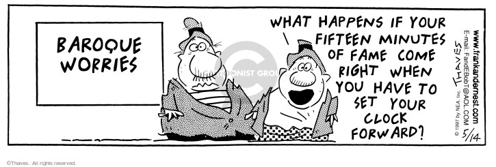 Comic Strip Bob Thaves Tom Thaves  Frank and Ernest 1997-05-14 daylight savings time
