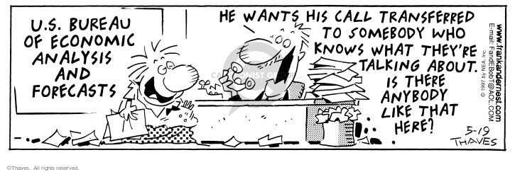 Comic Strip Bob Thaves Tom Thaves  Frank and Ernest 1997-05-19 department