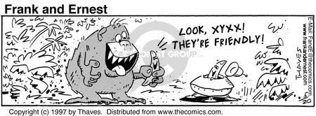 Comic Strip Bob Thaves Tom Thaves  Frank and Ernest 1997-05-20 jungle
