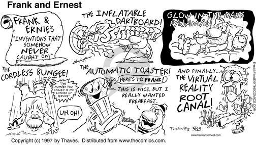 Comic Strip Bob Thaves Tom Thaves  Frank and Ernest 1997-05-25 bungee