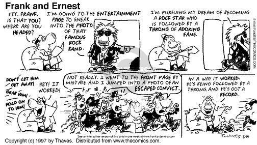 Cartoonist Bob Thaves Tom Thaves  Frank and Ernest 1997-06-15 star
