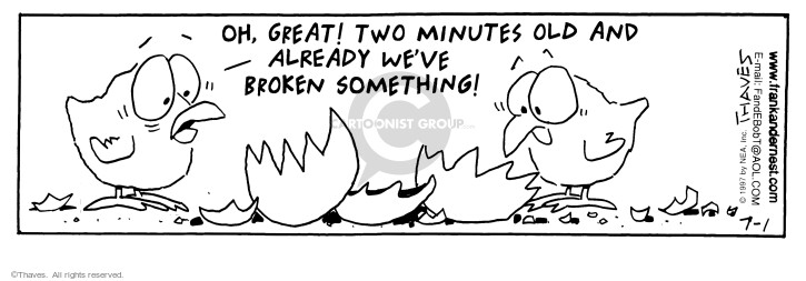 Comic Strip Bob Thaves Tom Thaves  Frank and Ernest 1997-07-01 aviary